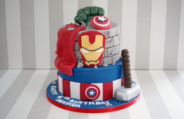 2 tier Marvel Avengers Birthday cake Bakealous