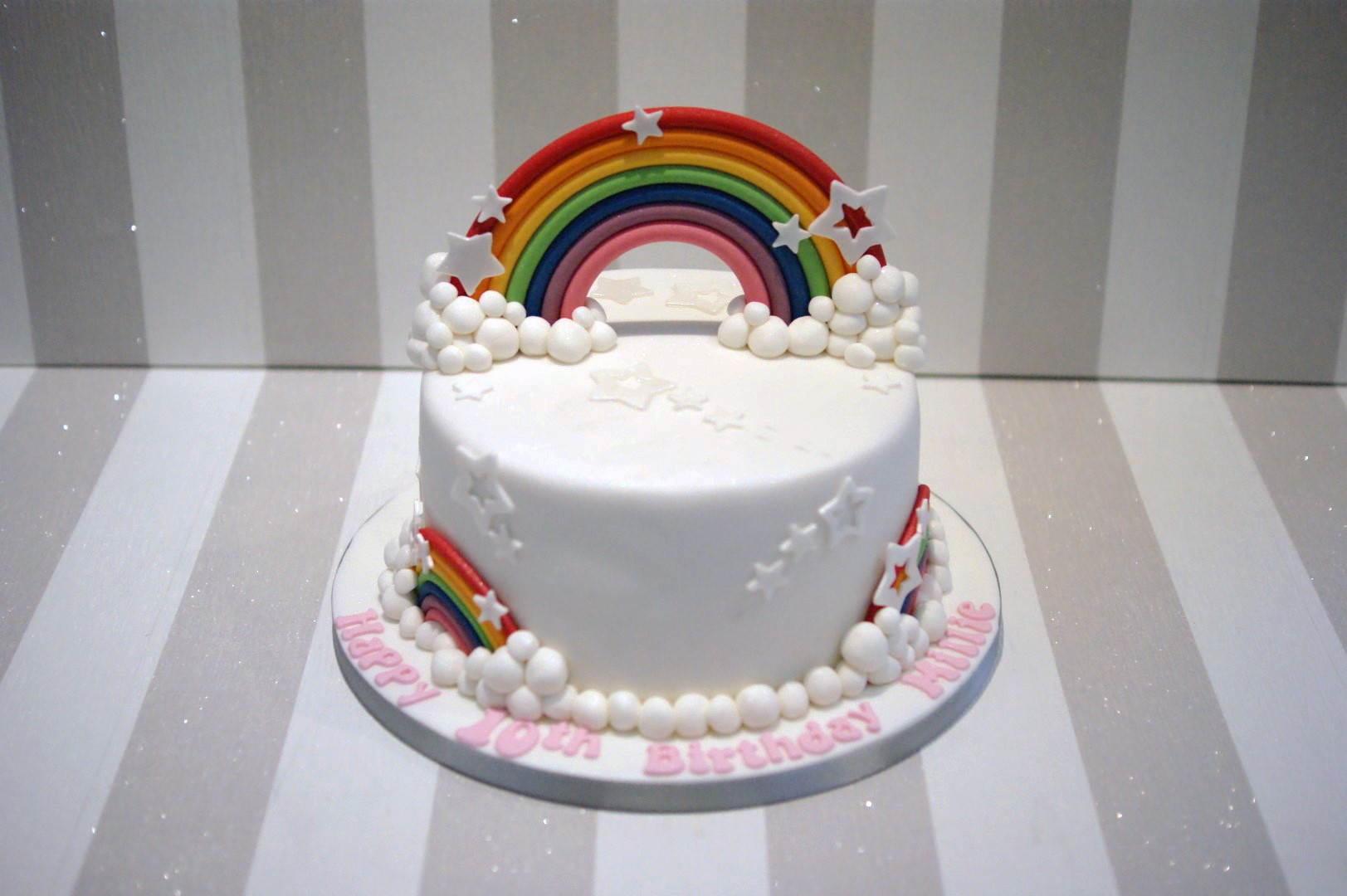 Birthday Cake Ideas Rainbow : Rainbow Birthday Cake - Bakealous