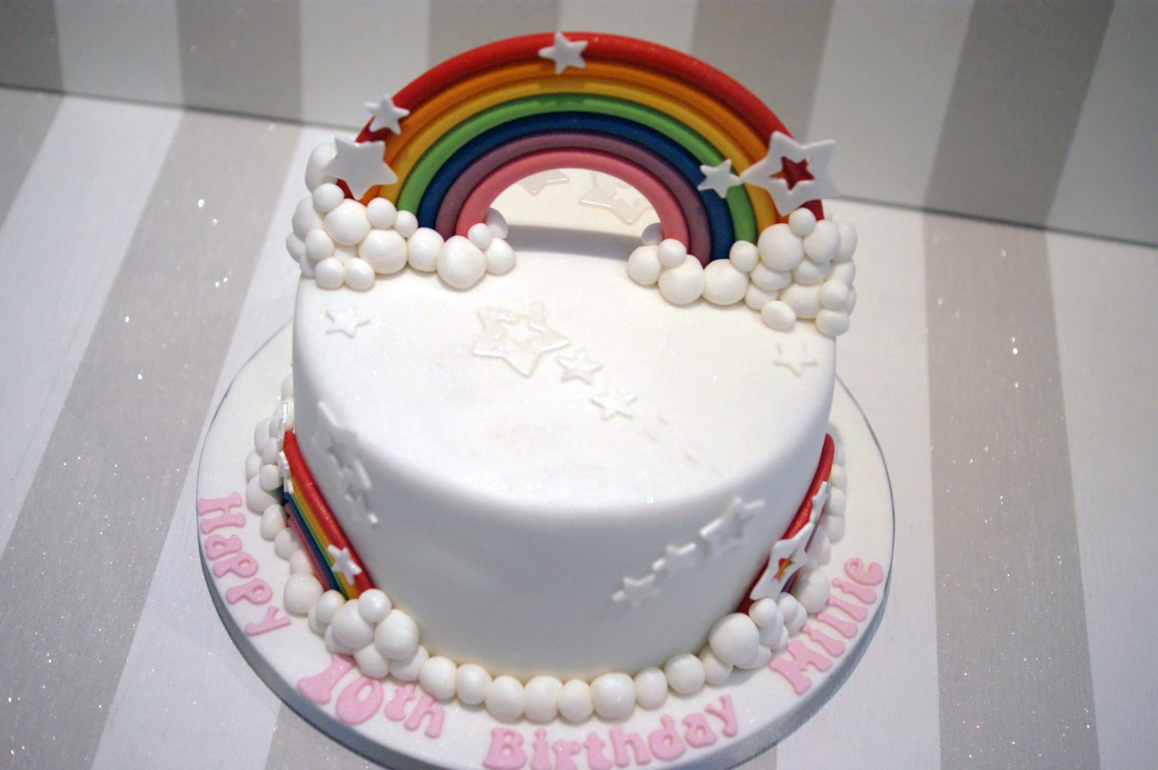 Rainbow Birthday Cake - Bakealous