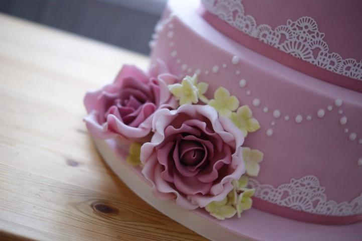 80th Pink Rose Birthday Cake Bakealous