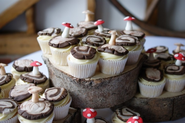 woodland-theme-wedding-cake-tree-stump-with-cupcakes (6)