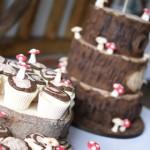 woodland-theme-wedding-cake-tree-stump-with-cupcakes (7)