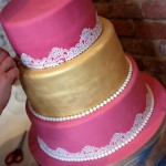 3-tier-pink-and-gold-lace-wedding-cake (2)
