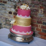 3-tier-pink-and-gold-lace-wedding-cake (4)