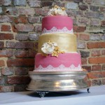 3-tier-pink-and-gold-lace-wedding-cake (6)