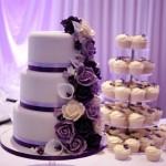 purple-rose-cascade-wedding-cake-1