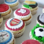 Arsenal Birthday Cake with Cupcakes