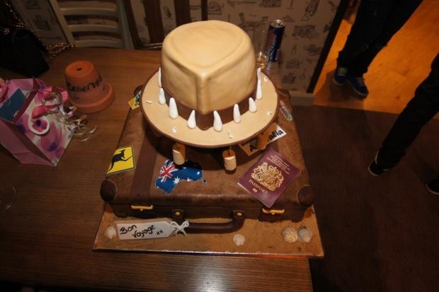 Australian backpacking cake