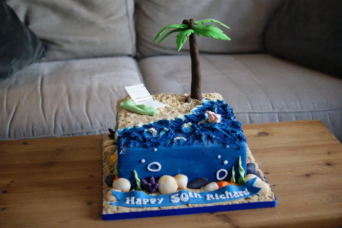 Beach Scene Birthday Cake Bakealous
