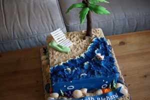 Beach Scene Birthday Cake