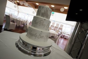 Disney Castle stencil phrase Wedding cake