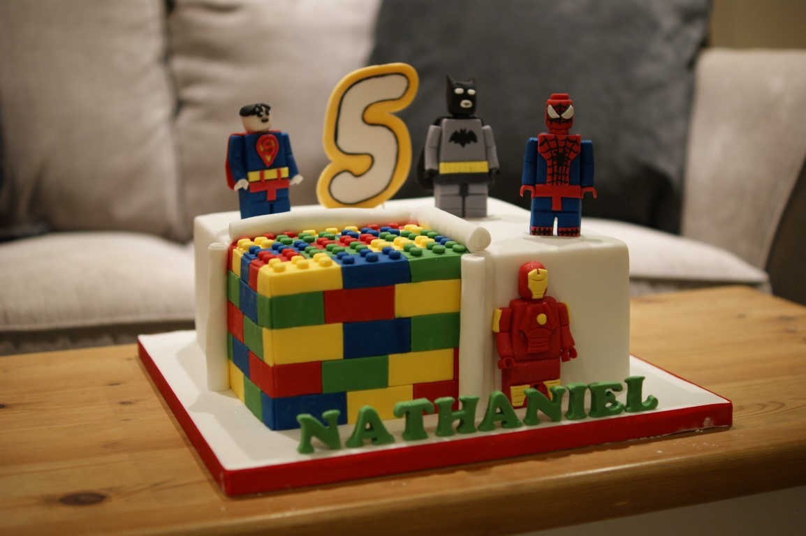 Lego Marvel Birthday Cake Bakealous