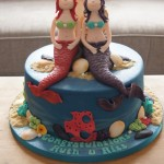 Mermaid Engagement Cake