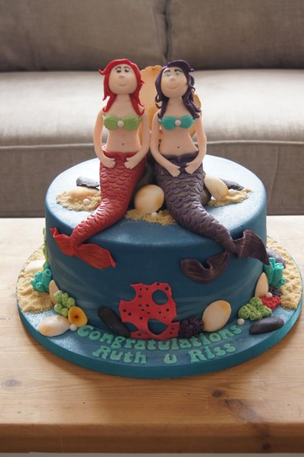 Mermaid Engagement Cake