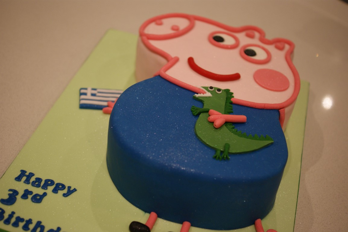 Peppa Pig George The Dragon 3rd Birthday Cake Bakealous