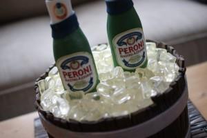 Peroni Nastro Azzuro Birthday Cake