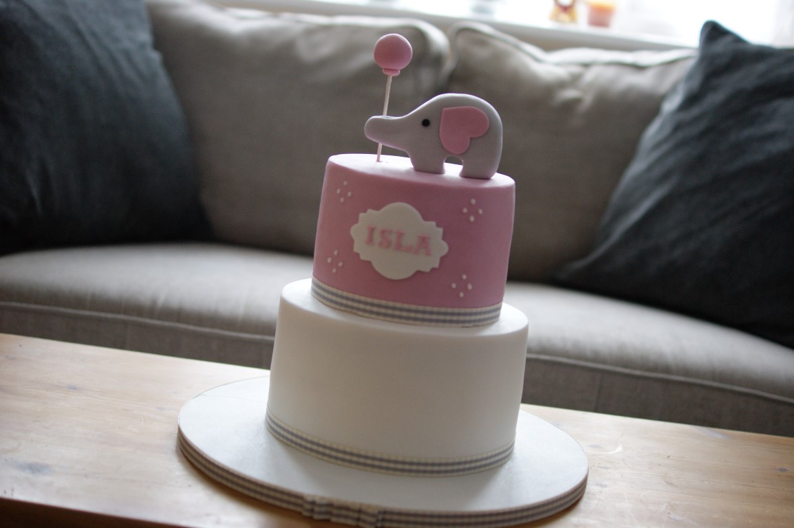 Pink Elephant Balloon Birthday Cake Gallery