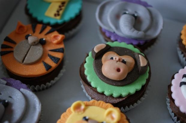 Zoo theme 1st Birthday Cake