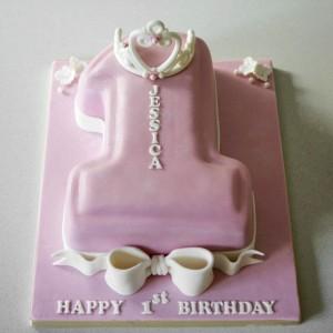 princess tiara number 1 birthday cake
