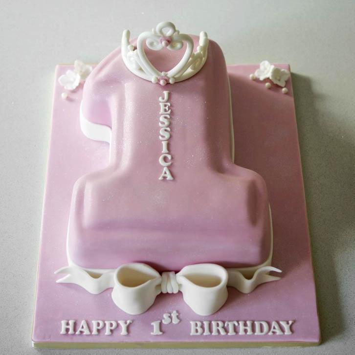 Terrific 1St Birthday Princess Number 1 Cake 3 Bakealous Birthday Cards Printable Benkemecafe Filternl