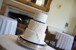 dress inspired pleat wedding cake