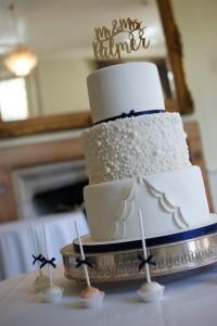 dress inspired pleat wedding cake