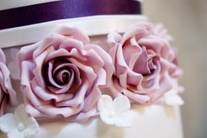 lilac ring spacer wedding cake